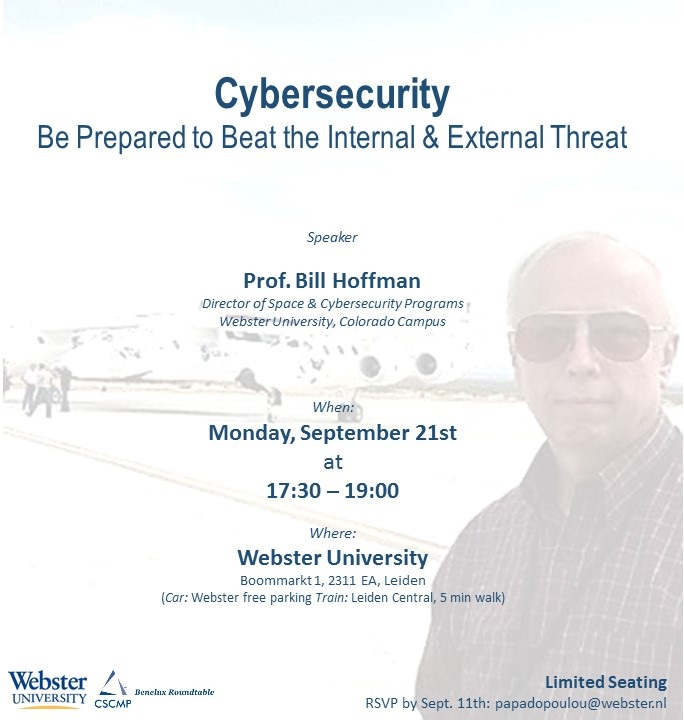 Cyber Security event in collaboration with Webster University