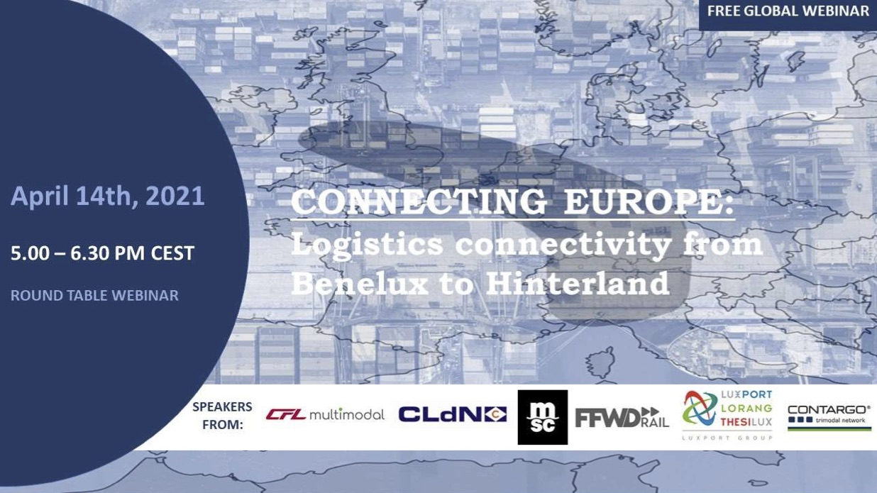 WEBINAR Connecting Europe: Logistics connectivity from Benelux to Hinterland